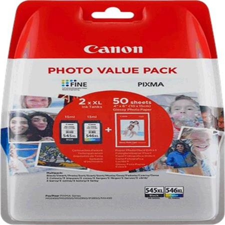 Canon Ink Cartridge PG-545XL CL-546XL Photo Value Pack